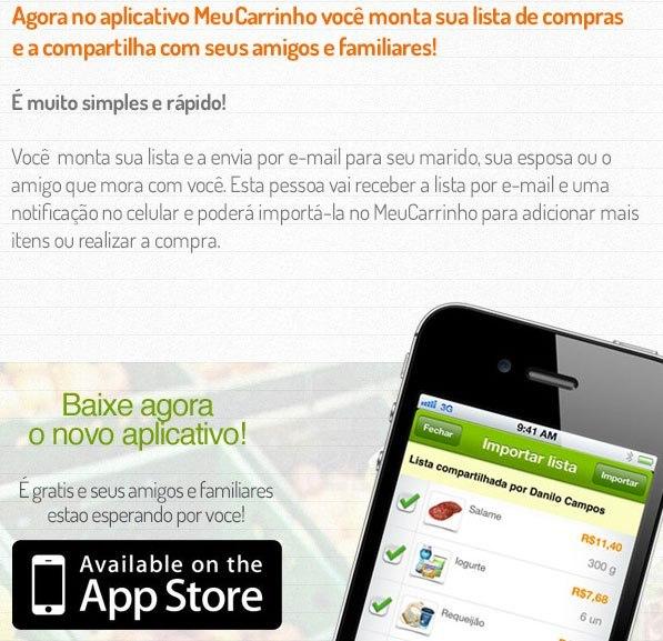 Aplicativo MeuCarrinho
