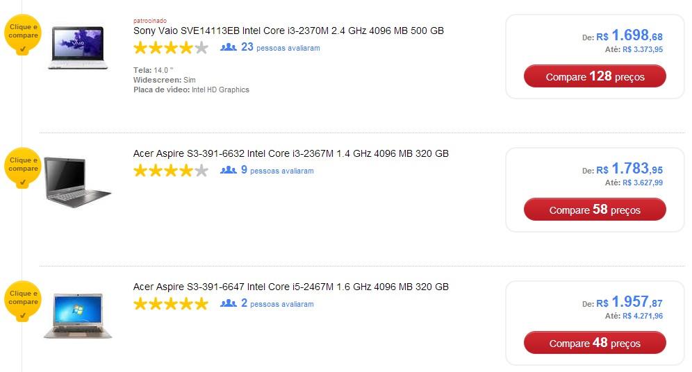 Comparação de Preços