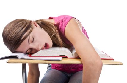 Estudante cansado