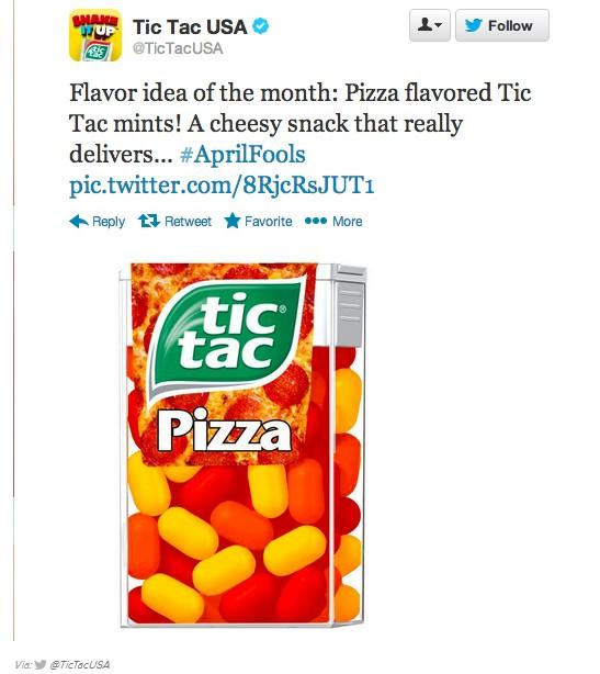 Tic Tac sabor pizza