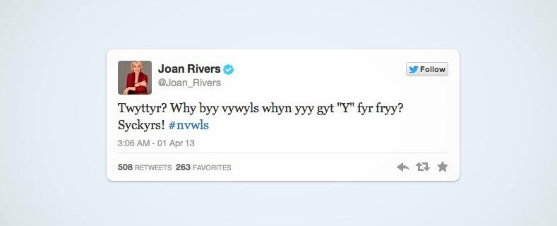Twitter cobra para utilizar vogais