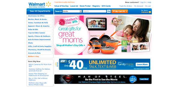Conceito multicanal - Novo portal Walmart.com