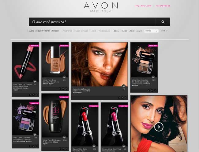 Para não prejudicar as vendas, a Avon coloca apenas um catálogo na internet