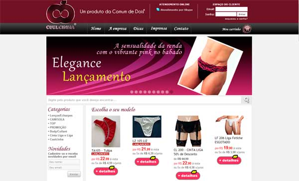 Cuelcinha.com.br é um exemplo de Loja virtual brasileira que aposta neste nicho - E-commerce Gay – O poder GLBT no comércio eletrônico