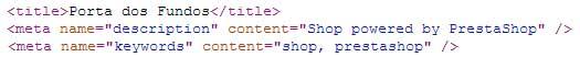Código fonte da loja Porta dos Fundos