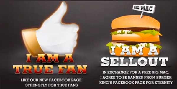 Qualificação de base: Burger King paga 30 mil likes por engajamento de verdade