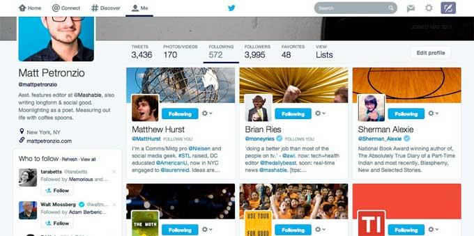 Twitter testa novo visual semelhante ao do Facebook.