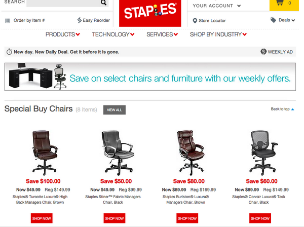 e-commerce b2b staples