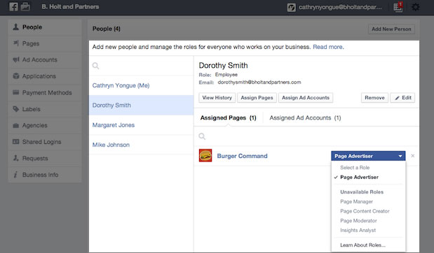 Facebook inicia o lançamento do Business Manager.