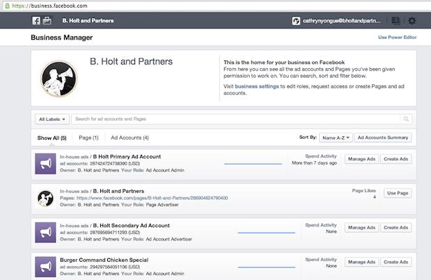 Facebook inicia o lançamento do Business Manager.