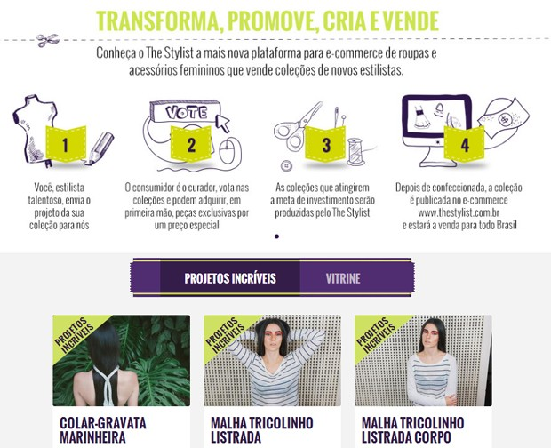 Financiamento coletivo inspira e-commerce de moda.