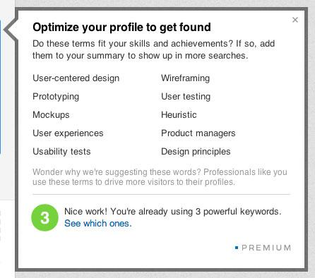 Palavras-chave no LinkedIn - LinkedIn também cede e faz perfis no estilo Facebook.