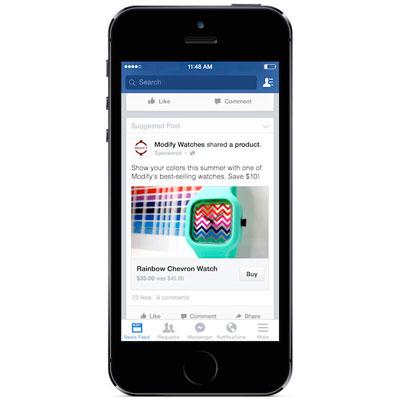 Botão comprar no Facebook entra em fase de testes.