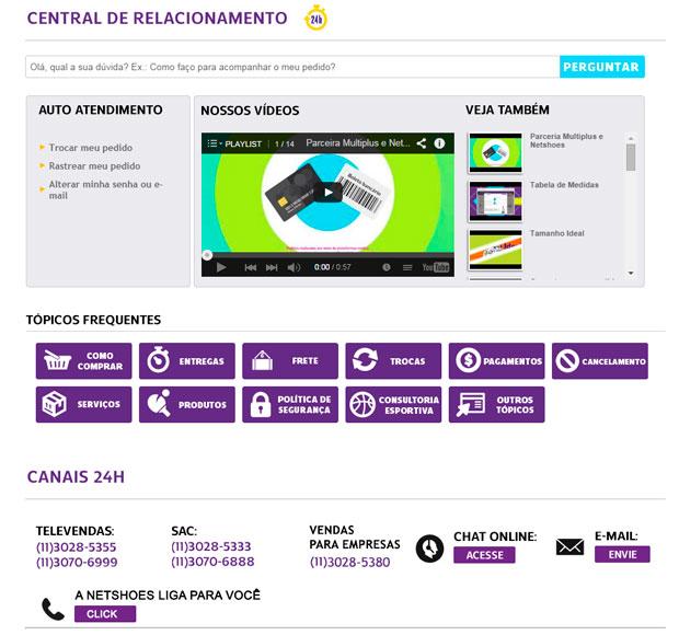 Central de Relacionamento Netshoes
