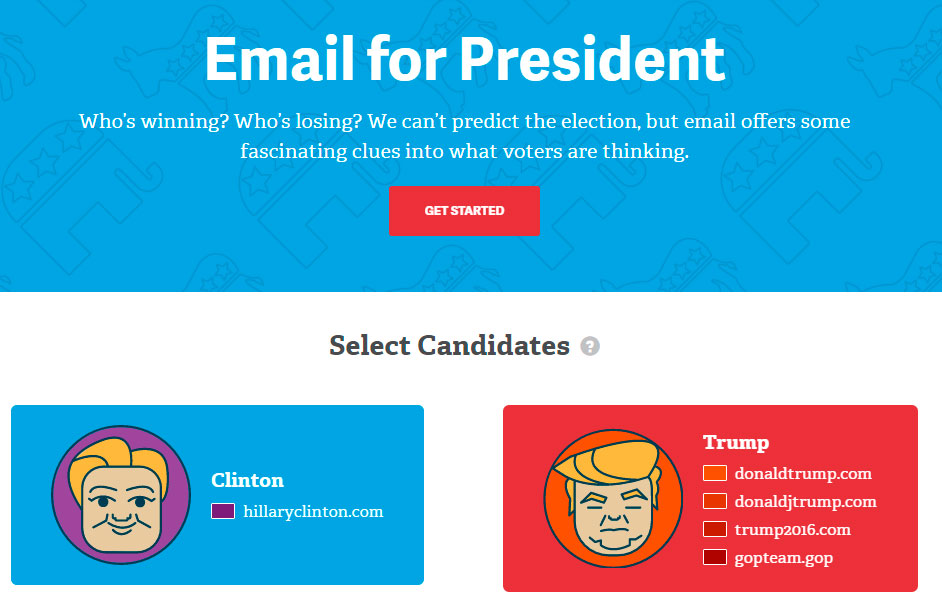 Trump x Clinton: a batalha dos candidatos no ambiente do e-mail marketing