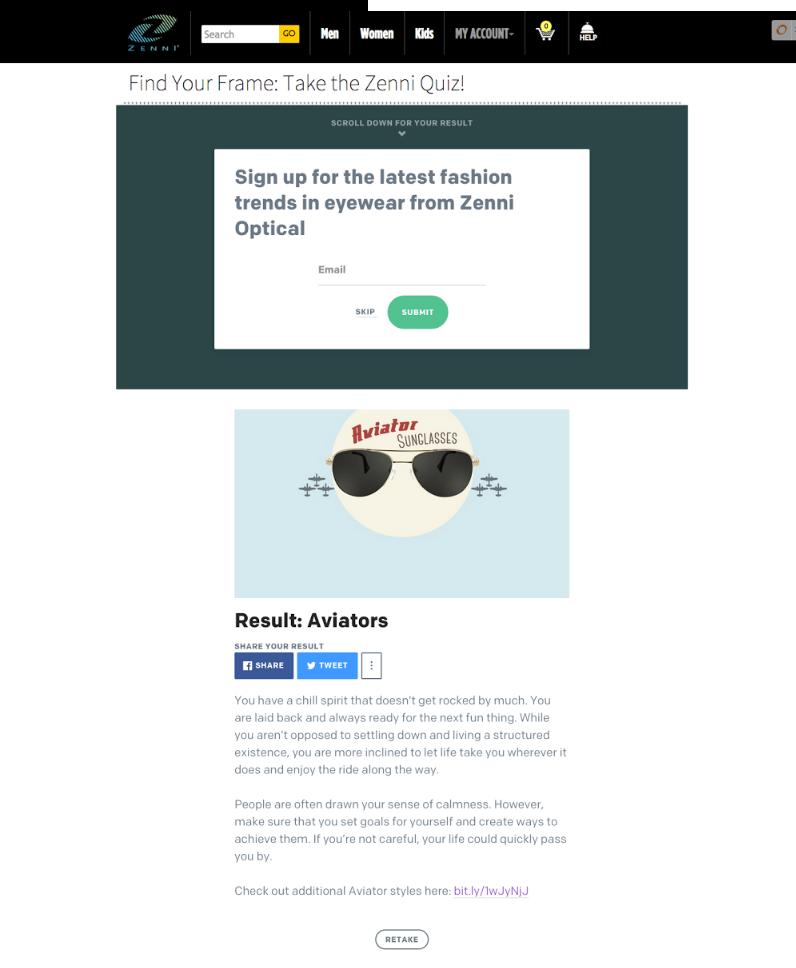 A Birtchbox também usa esta estratégia para engajar seu público, coletar  e-mails e vender mais. 9cad3755be