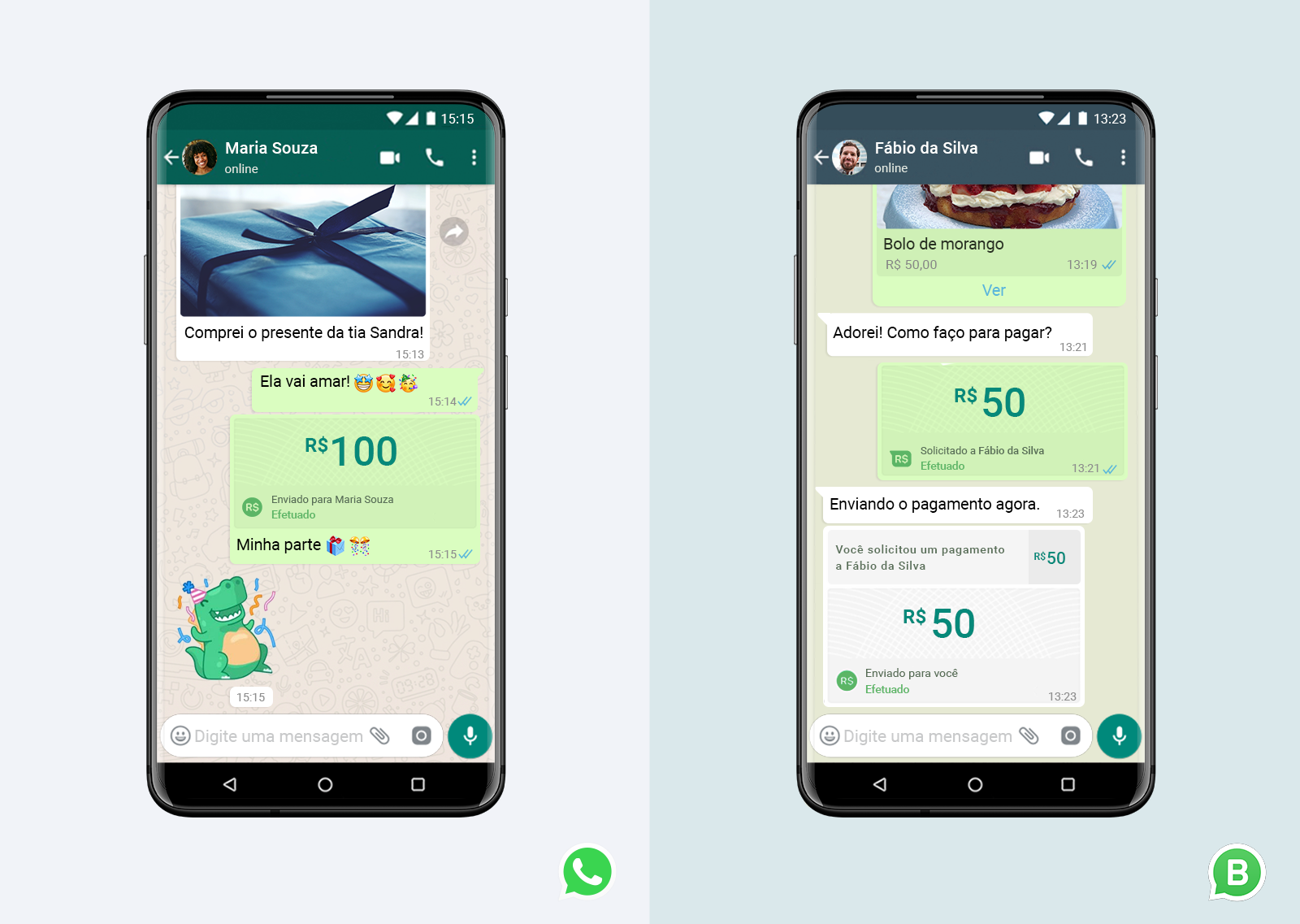 Confirmada a função de pagamento no WhatsApp