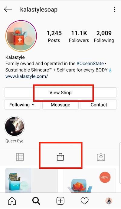 """Crie pelo menos uma postagem da loja para ativar a guia """"Loja"""" no perfil da sua empresa."""