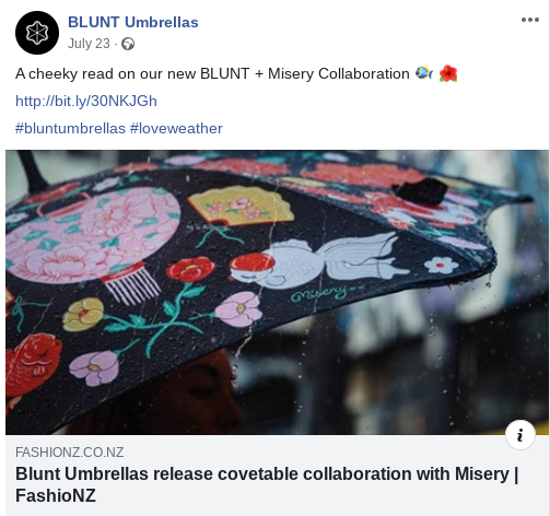 Blunt Umbrellas
